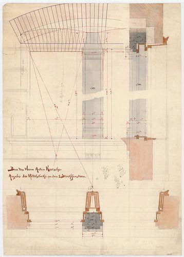 Kreische Antal bérháza. Első emeleti ablak középső osztásána... [HU BFL - XV.17.f.331.b - 67/9]