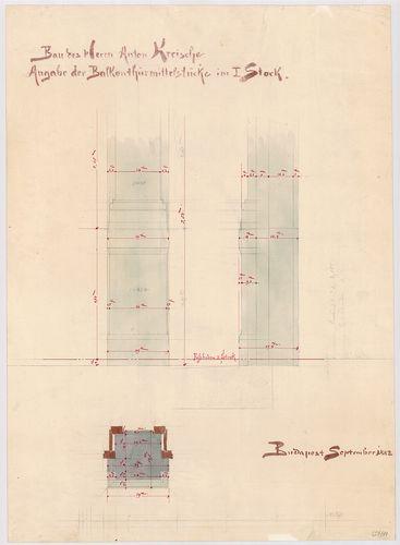 Kreische Antal bérháza. Első emeleti erkélyajtó középső oszt... [HU BFL - XV.17.f.331.b - 67/11]