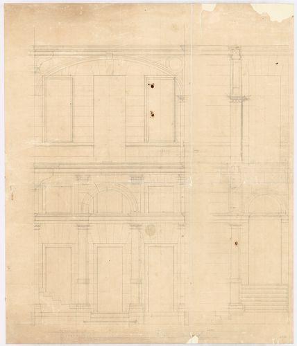 Kreische Antal bérháza. Udvari homlokzat részlete; földszint... [HU BFL - XV.17.f.331.b - 67/12]