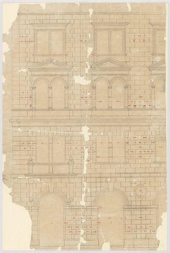 Kreische Antal bérháza. Utcai homlokzat részlete. [HU BFL - XV.17.f.331.b - 67/13]