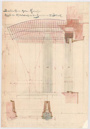 Kreische Antal bérháza. Harmadik emeleti ablak középső osztá... [HU BFL - XV.17.f.331.b - 67/14]