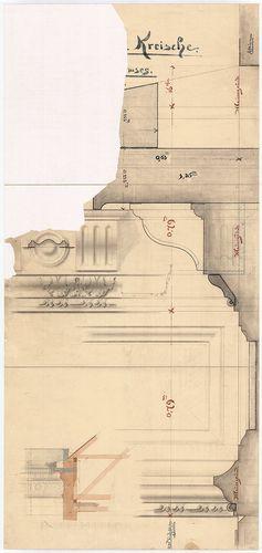 Kreische Antal bérháza. Utcai párkány részletei. [HU BFL - XV.17.f.331.b - 67/36]