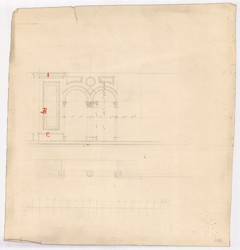 Leitner-bérház. Kettős ablak nézete és vízszintes metszete. [HU BFL - XV.17.f.331.b - 69/4]