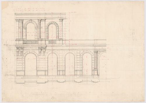 Leitner-bérház. Földszinti és első emeleti homlokzat részlet... [HU BFL - XV.17.f.331.b - 69/7]