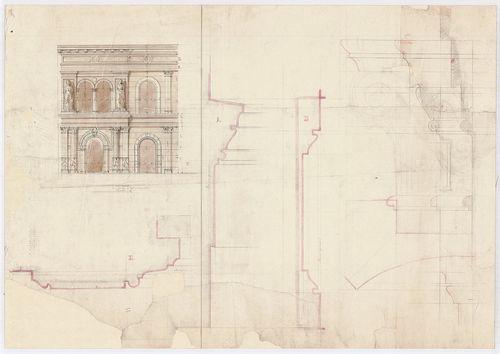 Leitner-bérház. Második és harmadik emeleti homlokzat részle... [HU BFL - XV.17.f.331.b - 69/8]