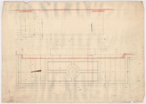 Leitner-bérház. Erkélylemezek alulnézete, metszete. [HU BFL - XV.17.f.331.b - 69/9]