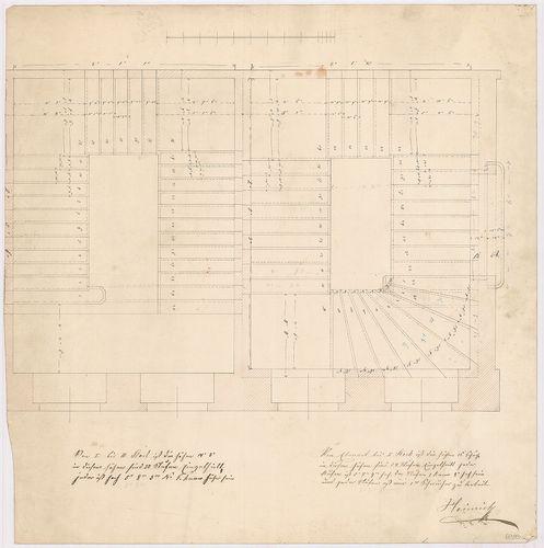 Leitner-bérház. Lépcsőház alaprajza. [HU BFL - XV.17.f.331.b - 69/13a r]