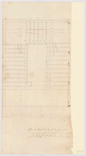 Leitner-bérház. Lépcsőház alaprajza. [HU BFL - XV.17.f.331.b - 69/13b]
