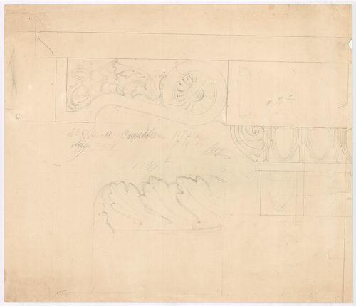 Leitner-bérház. Főpárkány konzol elöl- és oldalnézete. [HU BFL - XV.17.f.331.b - 69/17]