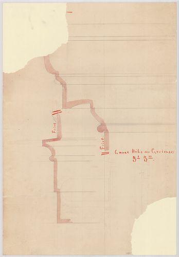 Leitner-bérház. Párkánytagozatok részletterve. [HU BFL - XV.17.f.331.b - 69/25]
