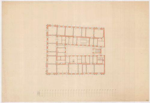 Lánchíd Rt. székháza. Első emeleti alaprajz. [HU BFL - XV.17.f.331.b - 101/3]