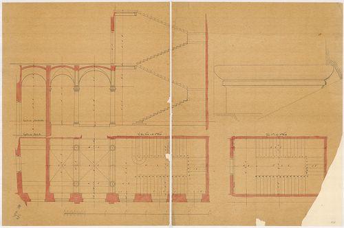Lánchíd Rt. székháza. Főlépcső és főbejárati előcsarnok föld... [HU BFL - XV.17.f.331.b - 101/6]