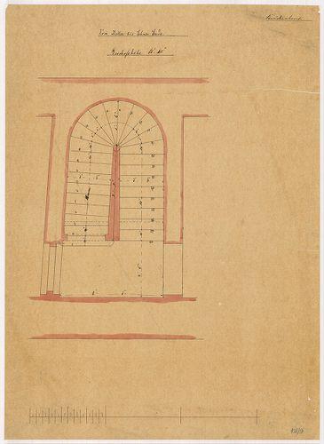 Lánchíd Rt. székháza. Melléklépcső alaprajza pincétől a föld... [HU BFL - XV.17.f.331.b - 101/9]