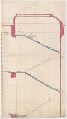 Lánchíd Rt. székháza. Melléklépcső metszete az első emelet é... [HU BFL - XV.17.f.331.b - 101/10]
