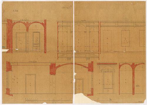Lánchíd Rt. székháza. Részmetszetek az első emeleten át. [HU BFL - XV.17.f.331.b - 101/17]