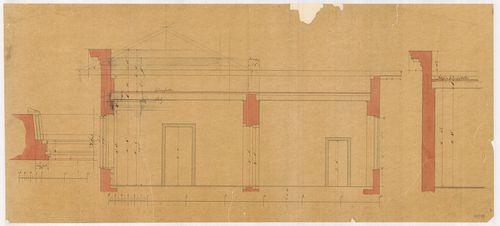 Lánchíd Rt. székháza. Részmetszetek a második emeleten át. [HU BFL - XV.17.f.331.b - 101/18]