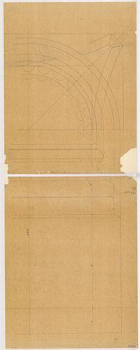 Lánchíd Rt. székháza. Homlokzati féloszlop talapzatának néze... [HU BFL - XV.17.f.331.b - 101/54]
