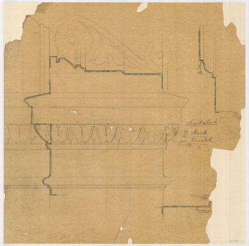 Lánchíd Rt. székháza. Második emeleti ablak feletti párkány ... [HU BFL - XV.17.f.331.b - 101/55]
