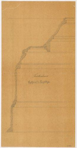 Lánchíd Rt. székháza. Főlépcsőház, főpárkány metszete. [HU BFL - XV.17.f.331.b - 101/56]