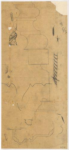 Lánchíd Rt. székháza. Ornamentikai vázlatok. [HU BFL - XV.17.f.331.b - 101/57]
