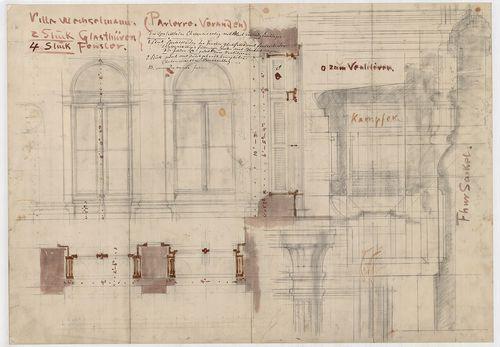 Wechselmann Ignác villája. Ajtó és ablak részletek, nézet és... [HU BFL - XV.17.f.331.b - 121/3]