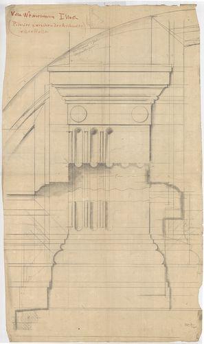 Wechselmann Ignác villája. Párkány részlet az első emeleten. [HU BFL - XV.17.f.331.b - 121/4]