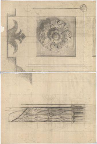 Wechselmann Ignác villája. Rozetta nézete és metszete. [HU BFL - XV.17.f.331.b - 121/10]