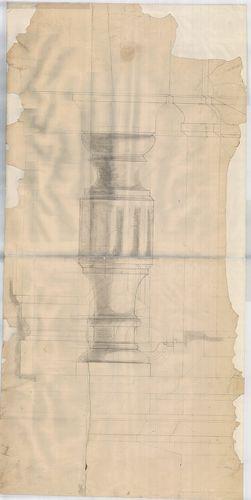 Wechselmann Ignác villája. Balluszter nézete és metszete. [HU BFL - XV.17.f.331.b - 121/18]