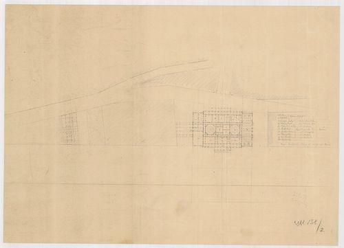 Fürdőépület. Szimmetrikus épület két kupolával a férfi és a ... [HU BFL - XV.17.f.331.b - 138/2]