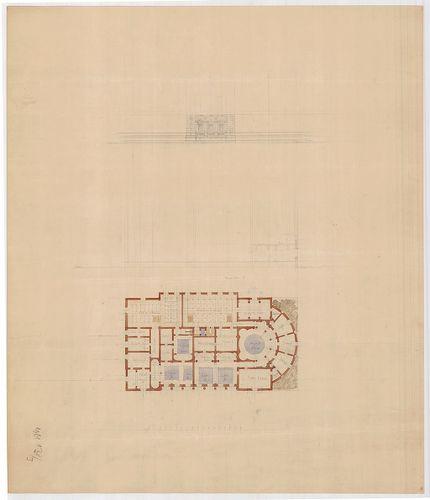 Fürdőépület. Aszimmetrikus épület, feltehetően egy kupolával... [HU BFL - XV.17.f.331.b - 138/3]