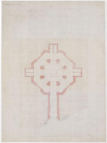 Templomrom átalakítása mauzóleummá. Kripta alaprajza, C vált... [HU BFL - XV.17.f.331.b - 140/5]