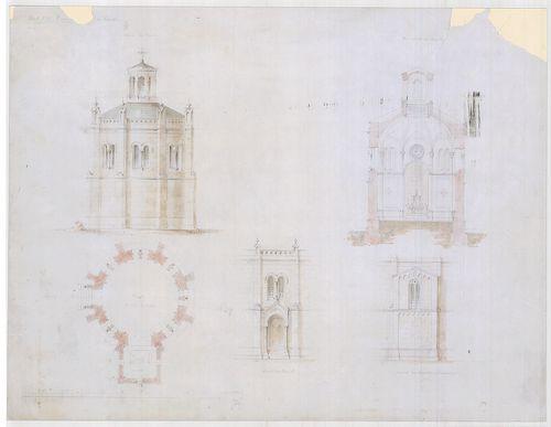 Templomrom átalakítása mauzóleummá. Kápolna alaprajza, hátsó... [HU BFL - XV.17.f.331.b - 140/6]