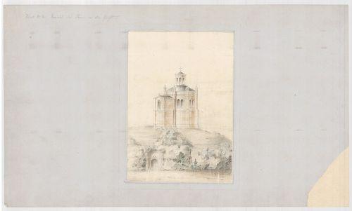 Templomrom átalakítása mauzóleummá. Kripta a bejárattal, C v... [HU BFL - XV.17.f.331.b - 140/7]