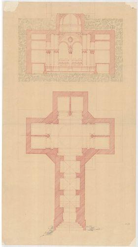 Templomrom átalakítása mauzóleummá. Kripta és templom keresz... [HU BFL - XV.17.f.331.b - 140/10]
