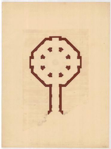 Templomrom átalakítása mauzóleummá. Kripta alaprajza, E vált... [HU BFL - XV.17.f.331.b - 140/11]