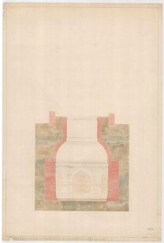 Templomrom átalakítása mauzóleummá. Kripta metszete, F válto... [HU BFL - XV.17.f.331.b - 140/12]