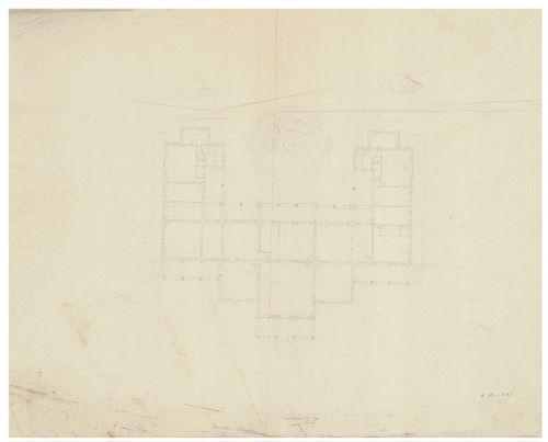 Azonosítatlan kastélyok. Szimmetrikus cour d'honneur ka... [HU BFL - XV.17.f.331.b - a12/1a]