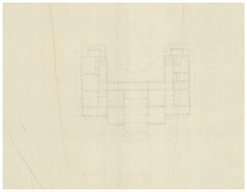Azonosítatlan kastélyok. Szimmetrikus cour d'honneur ka... [HU BFL - XV.17.f.331.b - a12/1b]