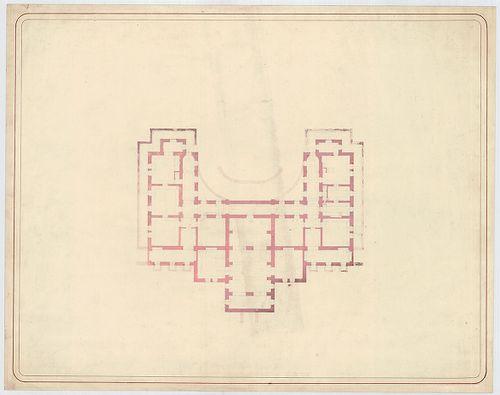 Azonosítatlan kastélyok. Szimmetrikus cour d'honneur ka... [HU BFL - XV.17.f.331.b - a12/1c]
