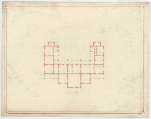 Azonosítatlan kastélyok. Szimmetrikus cour d'honneur ka... [HU BFL - XV.17.f.331.b - a12/1d]