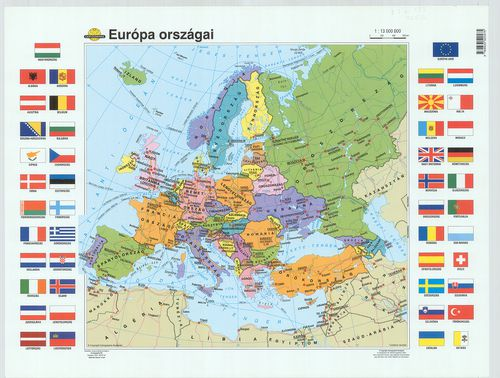 európa országai térkép Európa országai. [B I a 193] | Térképek | Hungaricana