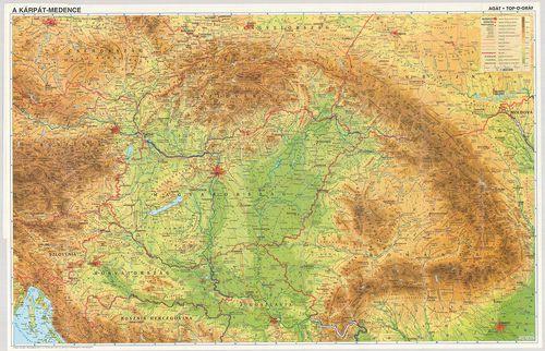 domborzati térkép A Kárpát medence. Domborzati térkép. [B II a 139] | Térképek  domborzati térkép
