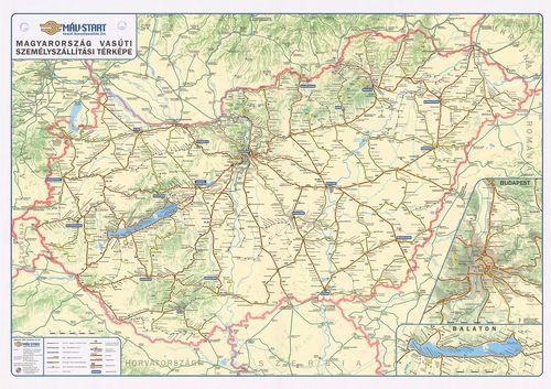vasúti térkép Magyarország vasúti személyszállítási térképe. [B XV c 1281