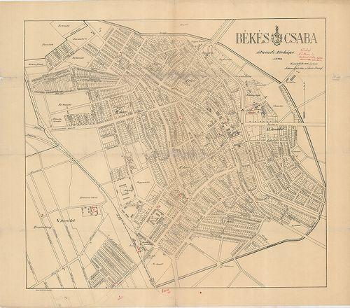 békéscsaba laktanya utca térkép Békéscsaba átnézeti térképe [BéML V B 76 b 11] | Térképek  békéscsaba laktanya utca térkép