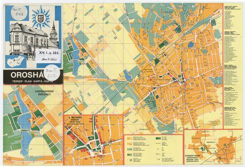 orosháza térkép Orosháza Térkép [BéML XV 1 a 203] | Térképek | Hungaricana