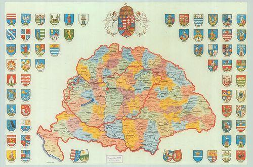 történelmi magyarország térkép A történelmi Magyarország közigazgatási térképe az 1910 es á  történelmi magyarország térkép