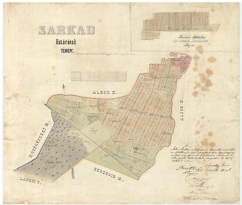 sarkad térkép Sarkad határának térképe Berzenczei határban levő sarkadi sz [S  sarkad térkép