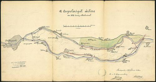 A Csepel-sziget ártere az 1878. árvíz alkalmával [S 118 - No. 613/1-2.]