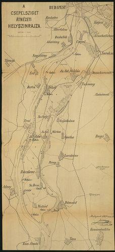 A Csepel sziget átnézeti helyszínrajza [S 118 - No. 840.]