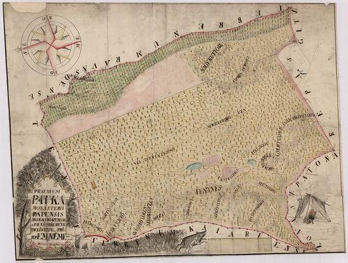 pátka térkép Praedium Pátka monasterii Papensis monachorum ord[inis] S[an